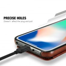 Retro PU Leather Case For iPhone Multi Card Holders