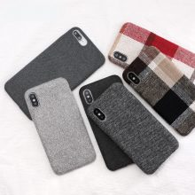 Cloth Texture Soft TPU case For iPhone